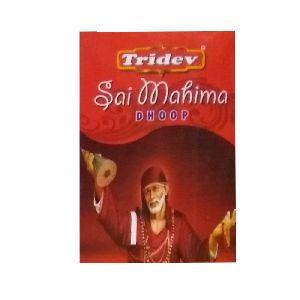 Tridev Sai Mahima Dhoop Sticks 12 Packs Box