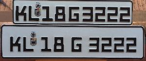 vehicle number plates