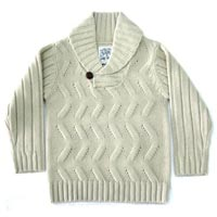 Kids Shawl Collar Sweater