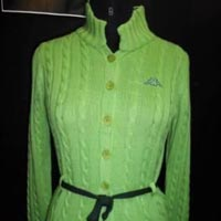 Ladies Stand Up Collar Sweater