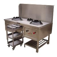 Continental Chineese Cooking Range With Masala Trolley