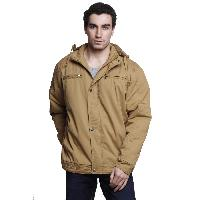 MSG Beige Solid Casual Jackets