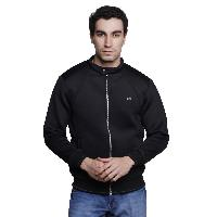MSG Black Solid Casual Jackets