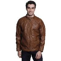 MSG Brown Solid Casual Jackets