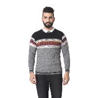 Msg Light Grey Round Neck Sweater