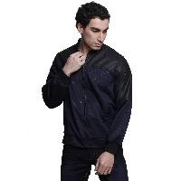 MSG Navy Solid Casual Jackets