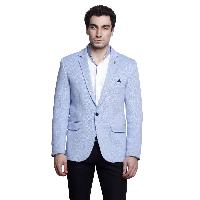 MSG Sky Blue Solid Party Blazers