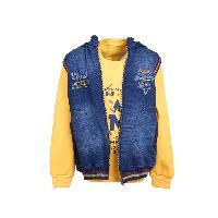 MSG yellow Hooded Sweatshirt For Boy Kids