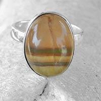 Multi Fluorite Gemstone 925 Sterling Silver Rings