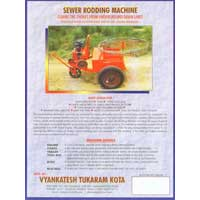 Sewer Cleaning Rodding Machine