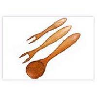Wooden Kitchen Forks Wka-004