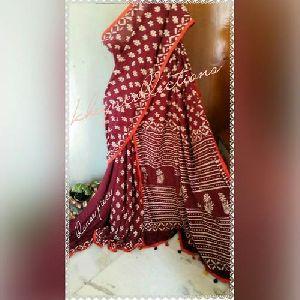 Dabu Printed Cotton Sarees