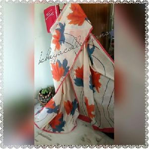 Hand Painted Bengal Cotton Sarees