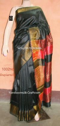 Dupion Silk Saree Black