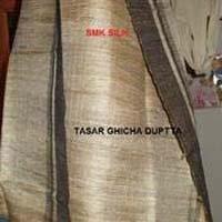 Tassar Silk Ghicha Silk Dupatta