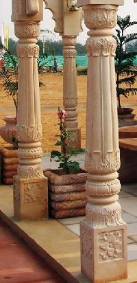 Carved Stone Pillar In Rajasthan Manufacturers And