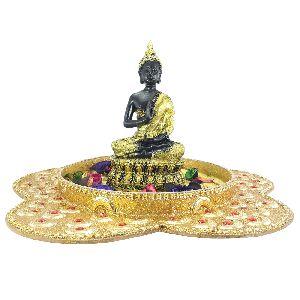 Decorative Designer Multi Purpose Platter Gutam Buddha Statue