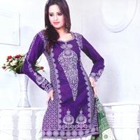 Unstitched Bandhej Salwar Suit