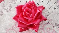 Satin Fabric Rose Flower