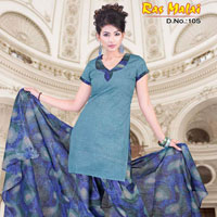 Cotton Printed With Patiala Salwar