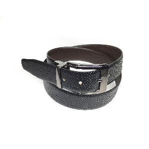 Leather Fish Print Reversible Belts