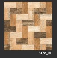 500x500 mm Digital Rustic Wooden Floor Tile (3128_01)