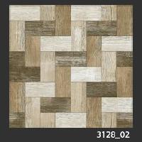 500x500 mm Digital Rustic Wooden Floor Tile (3128_02)