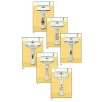 Printed Series Pedestal Wash Basins