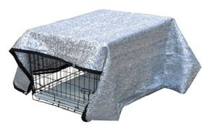 SILVER MESH TARP FOR DOG CAGE
