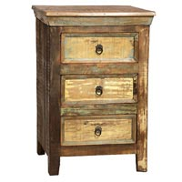 Recycled Wood Bedside Table
