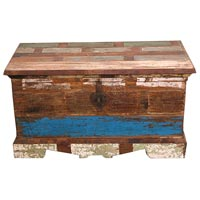 Recycled Wood Storage Trunk