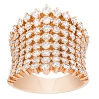 Fashionable Diamond Mesh Ring