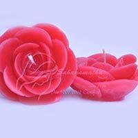 Floating Rose Flower Candles