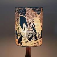 printed lamp shade