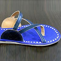 Flap Leather Slippers