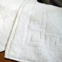 4 Side Greek Border Cotton Bath Mat