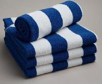 White Blue Stripe Virgin Cotton