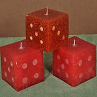 Dice candles