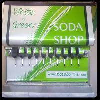 Flavored soda machine