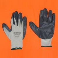 Grey Nitrile Coated Hand Gloves