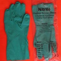 Green Nitrile Hand Gloves