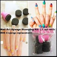 Nail Art Sponge Stamping Kit Polish Transfer Diy Tool