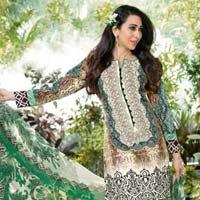 Green Black Beige Fancy Salwar Suit