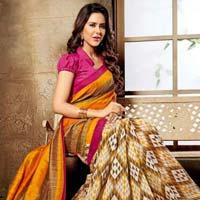 Multi Bhagalpuri Silk Saree
