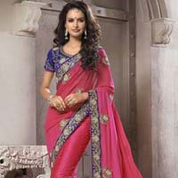 Net Pure Synthetics Designer Saree