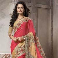 Pure Synthetics Designer Saree