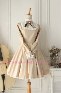 Castle Girl Champagne Vintage Classic Lolita Dress