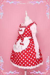 Cute Little Japanese Windmill Wind Little Red Apron