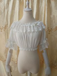 Original Summer Half Sleeve Chiffon Lace Lolita Bottoming Shirt