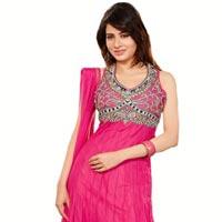 Designer Pink Anarkali Salwar Suit